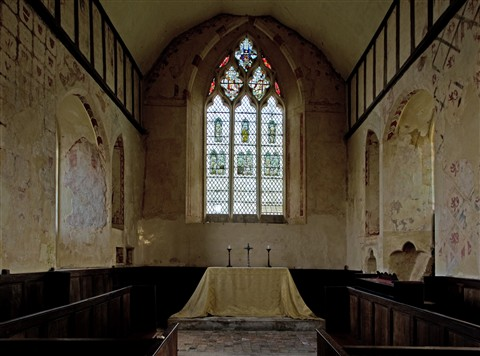 Hailes Church  ,interior, Nr., Winchcombe, Gloucestershire