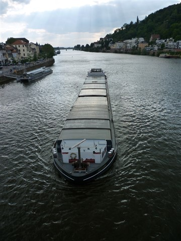 A Barge on the Neckar, Heidelberg, Germany