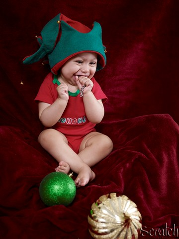 Ecstatic little elf