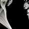 Smoke in black black background 06