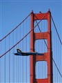 Blue Angel over the Golden Gate Bridge