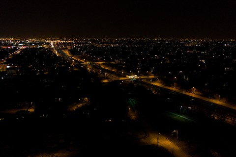 Dark Night: RAW, ISO 800, OIS, kit lens @ 20mm
