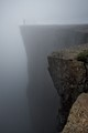 Taken on the Pulpit Rock (Preikestolen), Norway, when sunshine changed into thick fog within a few minutes