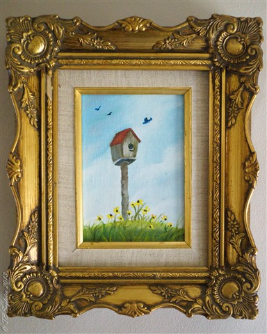 Birdhouse on Canvas