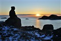 Watching sun rise in Biscayne Cove,Newfoundland