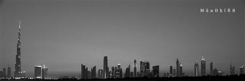 B&W Panoramic Dubai 1