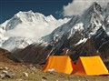 Two Tents (Mine & My son's) at Larkya Base Camp, 4,450 m