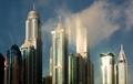 Dubai Marina in clouds