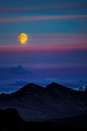 Moon Rise at Denali