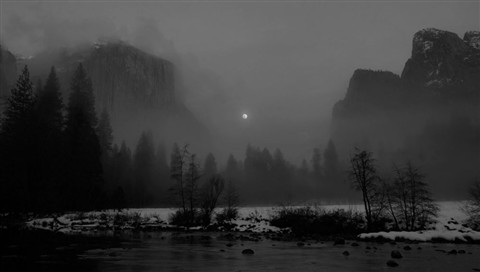 Moon Rise in Yosemite Valley