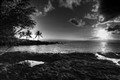black-and-white-sunset
