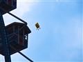 Spongebob flying over Oktoberfest in Munich