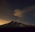 Mount Rainier at night