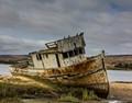Abandoned boat near Point Reyes National Seashore