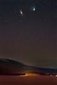 PanSTARRS & Andromeda over Lake Nisser, March 2013