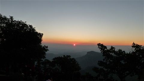 New Year Sunset at Panchmari hill,India