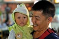 Thai father with hi son