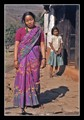 A colourful sari