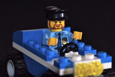 Lego Cop, with Tamron 90mm