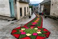 Traditional summer floral carpets, Spain