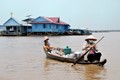 On the Tonlé sap in Cambodia.
