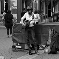Street musician in Quebec City