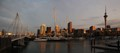 Auckland in late sun panorama