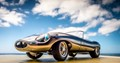 It the old Airfix model of the E-Type, but with  a bond style finish