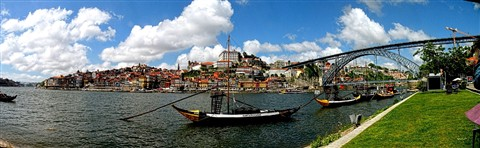 Porto, View from the river Douro, Portugal