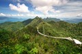 Taken on Mount Langkawi, Malaysia. The days before the weather was bad, but when we went the sky cleared and even Thailand could be seen. From the top of the mountain you could see so far the world looked round