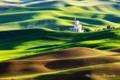 The beautiful and famous Palouse Wheatland in East Washington