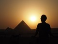 Cairo Pyramid Sunset