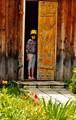 open door and the little girl