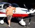 Pilot with Sling II Light Sport Aircraft