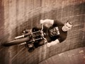 Vintage motion blur - Wall of Death Rider