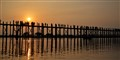Sunset at U Bein  Bridge