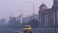 Kolkata city,Victorian heritage building,in mists,-1