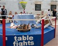 2 tables meeting in the ring