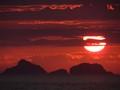 Setting sun in Rio