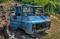 Oldtimer - slightly used (do you say: minced condition?) - in a vineyard