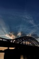 90 years old iron bridge - name:  Jozefa Piłsudzkiego in Krakow Poland. Popular local name: Turtle Bridge