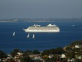 Cruise Ship MARINA Rounds North Head