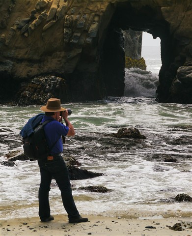Photographer in Big Sur