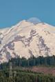 Mt Rainier Moon Birth