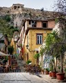 Plaka a neighborhood in Athens under the Acropolis