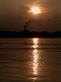 sunset in factor area of Kolkata, West Bengal, India