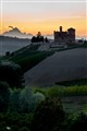 sunset on grinzane castle