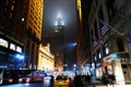 ...the foggy night at midtown manhattan,nyc...