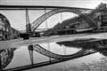Porto Reflections D. Luiz I B&W
