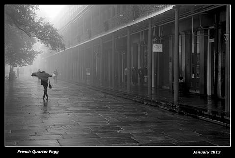 French Quarter Fog B&W